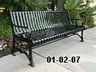 6 foot metal cast iron bench