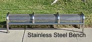 Stainless Steel Perforated Bench