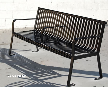 Wrought Iron Metal Bench