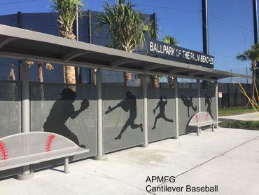 Cantilever Bus Shelter Baseball