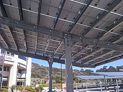Steel Structural Channel Solar Cantilever Shelter