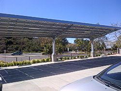 Steel Cantilever Shade Solar
