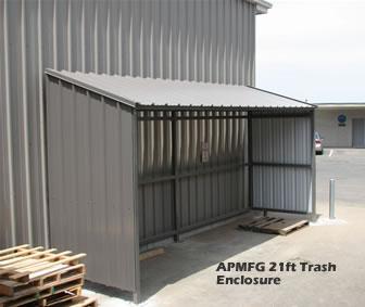 Trash Enclosure Metal Roof